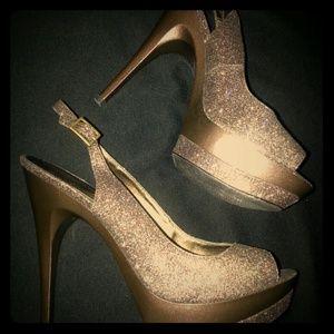 Chocolate Brown Sparkle Heels!