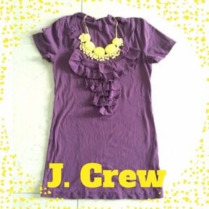 J. Crew Tops - Purple J. Crew Ruffle Top