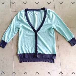Sweaters - Mint & Grey Cardigan