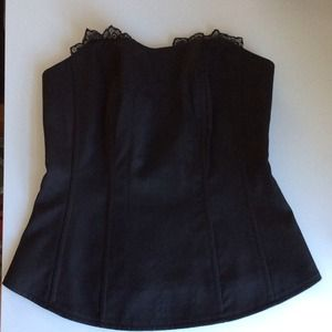 Express Tops - LOW PRICE Black bustier with tags!
