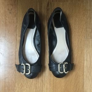 Dior Shoes - Dior black leather ballet flats