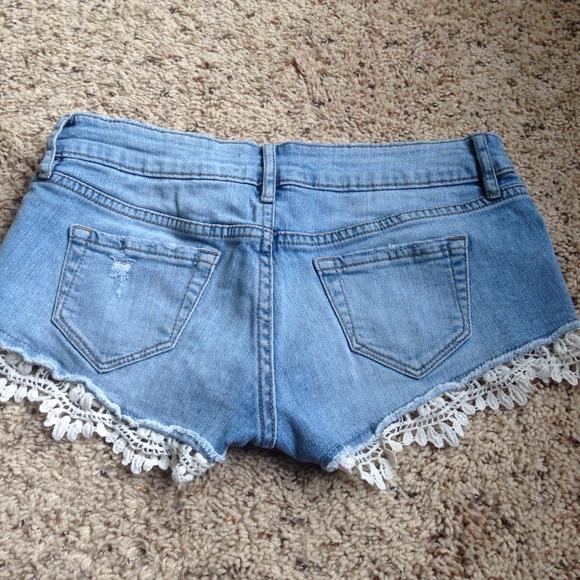 67% off Roxy Denim - Roxy Lace Trim Denim Shorts from Codi's ...