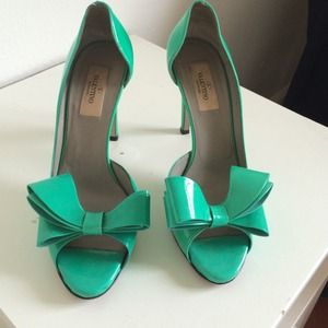 Valentino Shoes - Tiffany Blue / turquoise Valentino bow heels