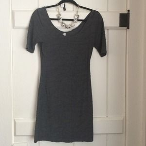 Grey wave-textured dress