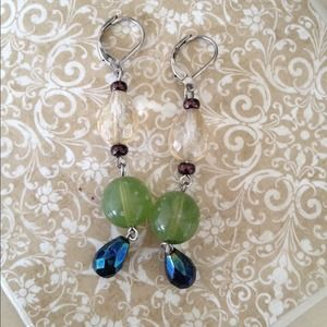 Nordstrom BP Jewelry - BP Blue/Green Beaded Dangles!