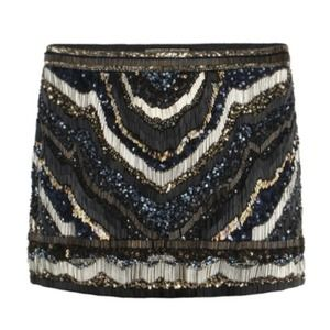 All saints sequins mini skirt size 4