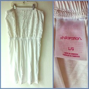 Lacy, white strapless dress or coverup