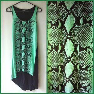 Bebe snakeskin dress