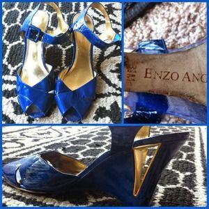 Enzo Angiolini Electric Blue heels