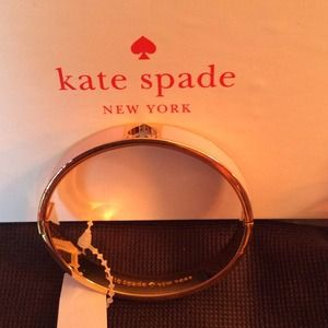 Authentic Kate Spade baby pink and gold bracelet
