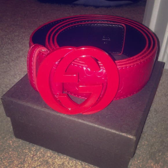 fd26bfb80e4 Gucci Accessories - Red Gucci Belt