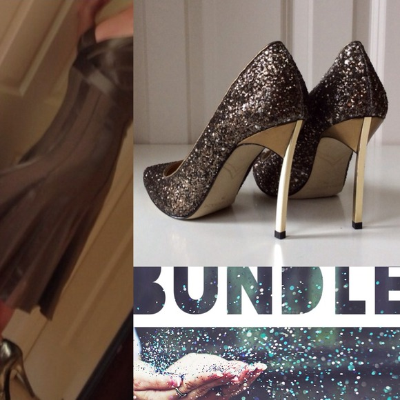 Enzo Angiolini Shoes - 🍂BUNDLE || Silk Dress + Glitter Heels