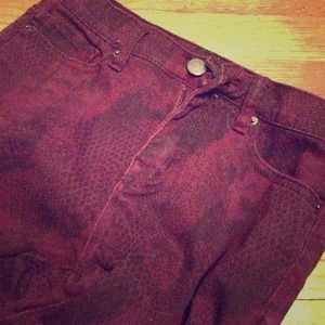 ❌Burgundy Urban Outfitters Jeans (BDG High Rise)