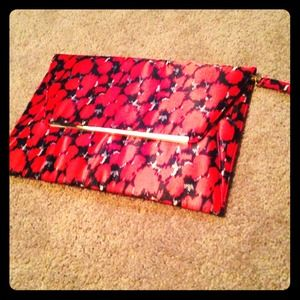 NEW Black/Red Envelope ASOS Clutch (bag/purse)