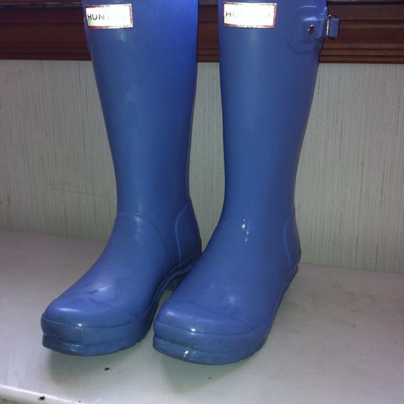 70% off Hunter Boots Boots - Sold Hunter sky blue rain boots ...