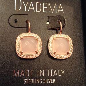DYADEMA Jewelry Rose Gold Over Sterling Silver Earrings Poshmark