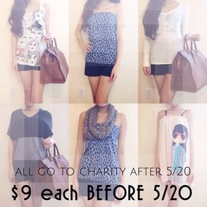 $9 each until 5/2 otherwise all go to charity