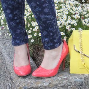 Coral Patent Pumps