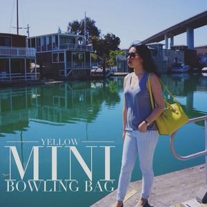 Yellow Mini Bowling Bag