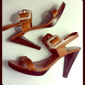Ralph Lauren Shoes - * 💋RL Tan Leather Braided Buckle Sandal