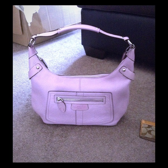 bf4635021 ... closeout lyst coach signature nylon spencer crossbody in purple coach  lilac pebbled leather hobo shoulder bag