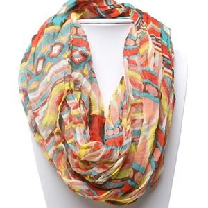Multi Color Tribal Infinity Scarf