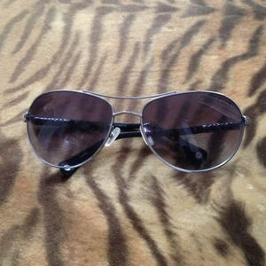 1869cb23fc Coach Accessories - Coach Allegra Gunmetal 5567 Aviator Sunglasses