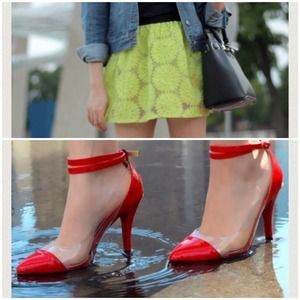 Other - Bundle ( neon skirt + red pumps )