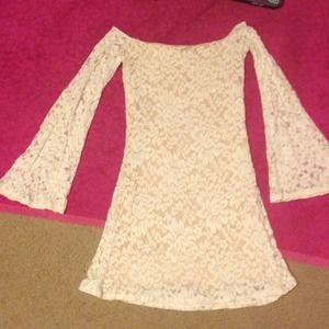 Adorable lace off the shoulder dress