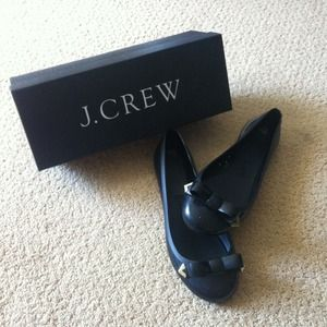 J.Crew Rainy Day Bow Ballet Flats