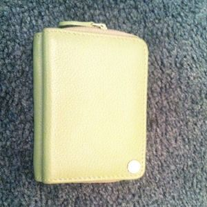 Small green wallet