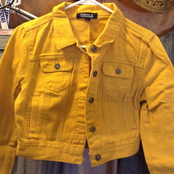 Forever 21 Jackets Coats Mustard Yellow Denim Jacket Poshmark