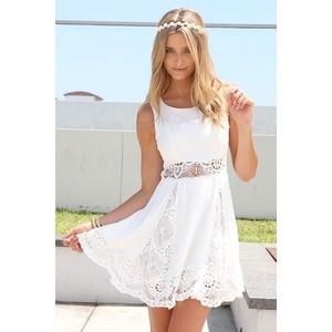 Sabo Skirt Lace Cutout Dress