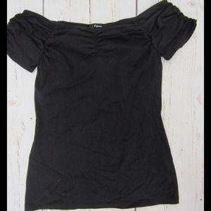 Express Tops - Express off the shoulder shelf bra top