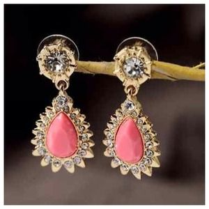 Jewelry - The Selena Pink Coral Starburst Statement Earrings