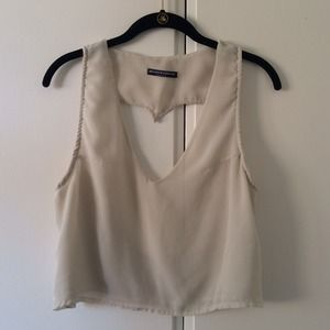 Brandy Melville Heart Cutout Back Top