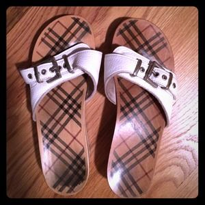 100% Authentic Burberry wood sandals
