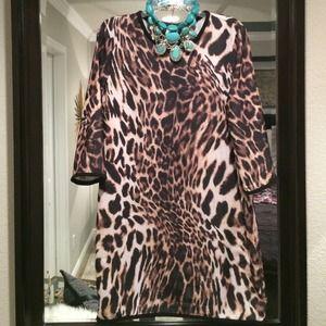Dresses & Skirts - MNG leopard mini dress
