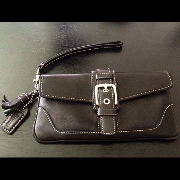 67 Off Coach Clutches Amp Wallets Coach Black Buckle