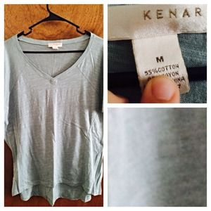 kenar Tops - Kenar Powder Blue Loose shirt