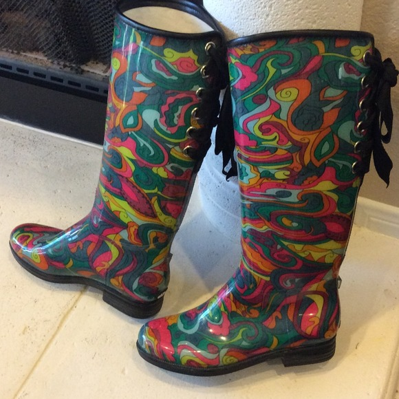 Multi Colored Rain Boots - Boot Hto