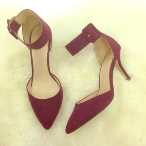 Zara basic purple ankle strap pumps