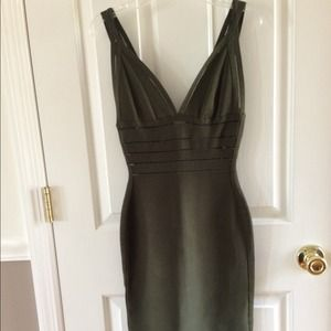 Herve Leger Green Bandage Dress XXS