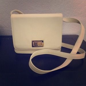 Host Pick  White Crossbody Satchel
