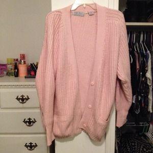 Heavy pink cardigan