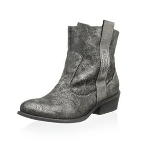 Charles David Leather Pull On Ankle Boots