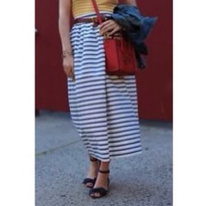 J. CREW COLLECTION skirt in marina stripe.