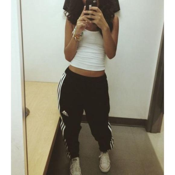 adidas track pants skinny womens