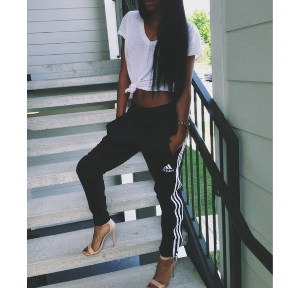 Image result for adidas track pants womens with heels