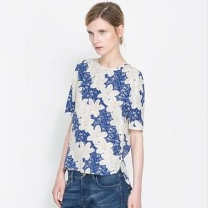 Zara Tops - NWT. Zara Floral Viscose Top
